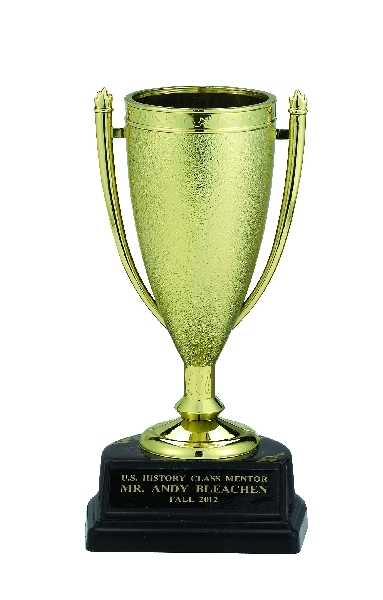 6-1/2 Inch Gold Cup Trophy; Black Synthetic Marbleized Base - Tr7289 - Awards Cups And Balls TR7289