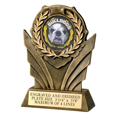 6 Inch Resin Wreath Trophy; Takes 2 Insert - Tr7039gd - Sports Trophies And Cast Stone Participation Economy TR7039GD