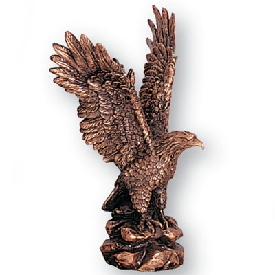 8-1/2 Inch Antique Bronze Eagle - X8064 - Awards Trophy Eagles Without Plates X8064