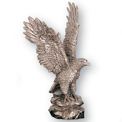 8-1/2 Silver Eagle Cast Trophy - X7849 - Awards Eagles Without Plates X7849