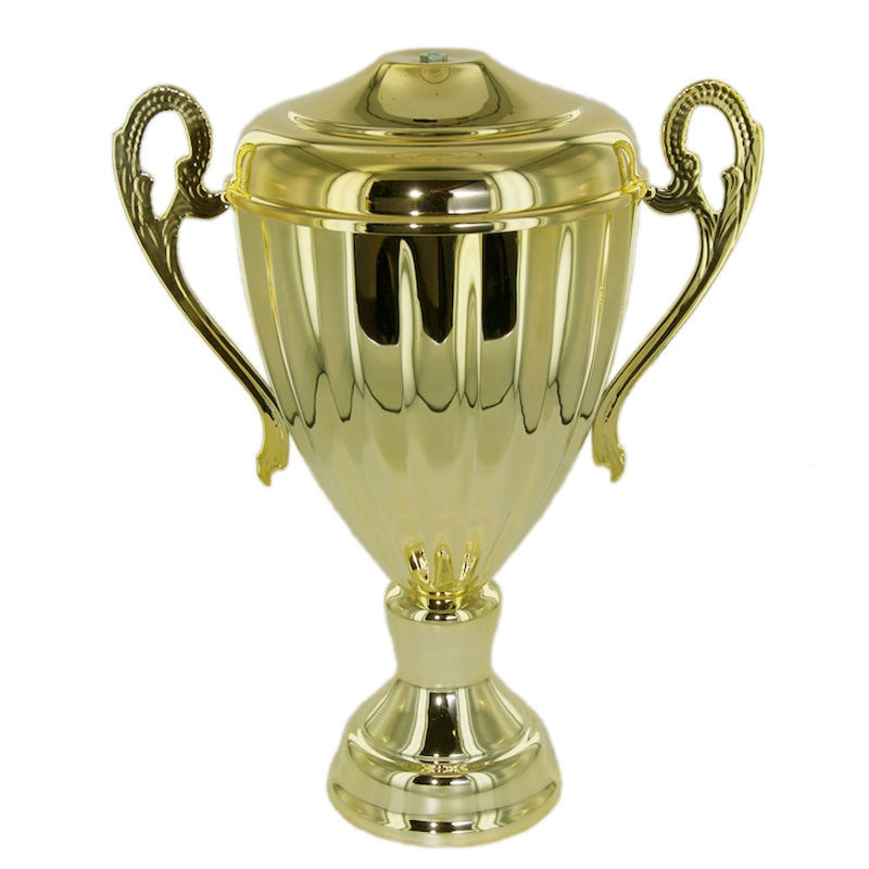 9-1/4 Inch Ravenna Series Trophy Cup Wit Lid; Gold - Cu8939g - Awards Eagles Without Plates CU8939G