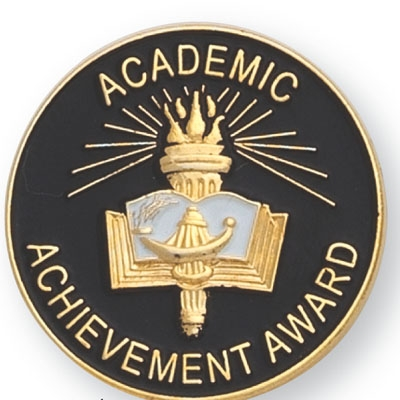 Academic Achievement Award Pin - Br541 - Trophies And Awards And Scholastic Pins BR541