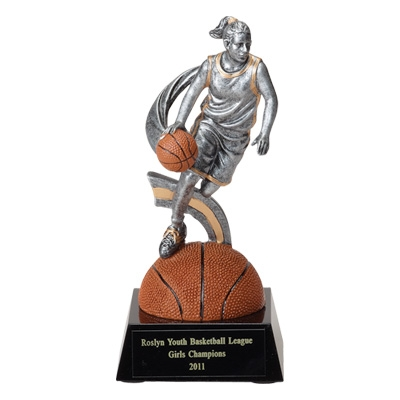 Sports & Fitness Physical Education & Sport Balls Basketballs - F880 - Basketball Female Figure Trophy - No Plate F880