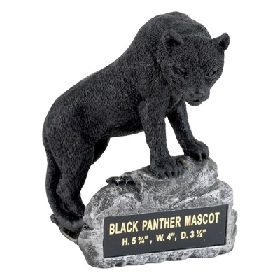 Black Panther Mascot Trophy - Mt2002 - Awards Large Resin Sport Ball Trophies MT2002