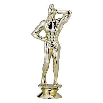 Bodybuilder Female Trophy Figure - F29243g - Sports Figures And Risers Plastic Sport F29243G