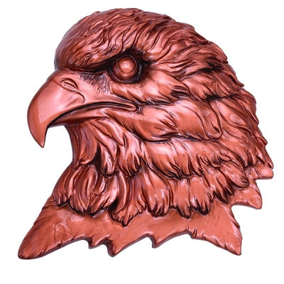 Bronze Eagle Head Plaque Mount; 4-1/2x4-1/2 - X8848b - Trophies And Awards Plain Plates For Engraving X8848B