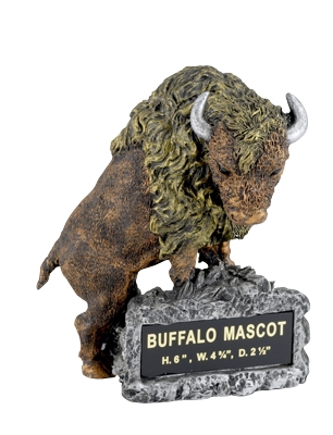 Buffalo Mascot Trophy Without Plate - Ms2020 - Awards Component Parts MS2020
