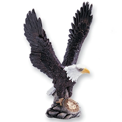Colored Resin Eagle; 12-1/2 Inch - X8475 - Awards Trophy Eagles Without Plates X8475