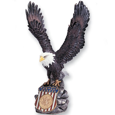 Colored Resin Eagle Holds 2inch Insert; 15 Inch Height - X8474 - Awards Trophy Eagles Without Plates X8474