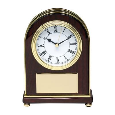 Decorated Rosewood Clock - Gf5831 - Awards Trophy Eagles Without Plates GF5831