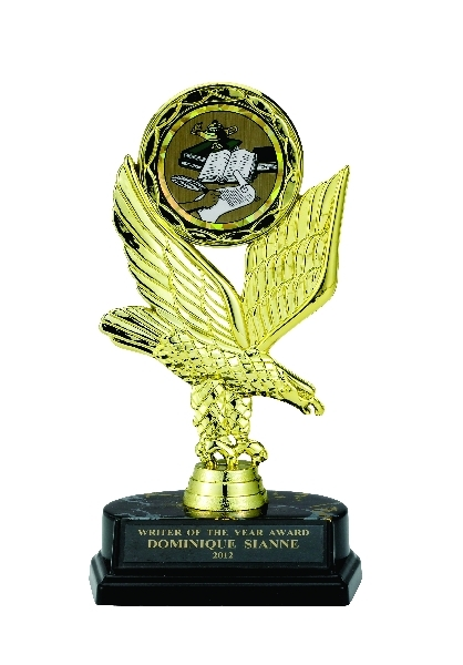 Eagle Trophy; 8 Inch; Black Base; 2 Inch Insert - Tr7274 - New Academic Awards And Trophies TR7274