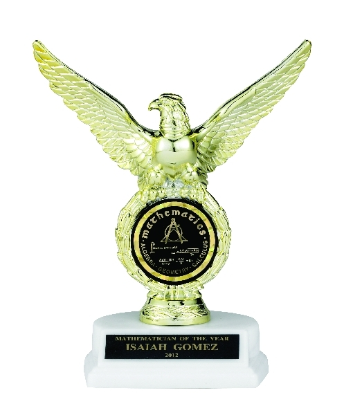 Eagle Trophy; 8 Inch; White Base; 2 Inch Insert - Tr7326 - New Academic Awards And Trophies TR7326