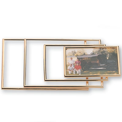 Gold Acrylic Frame Holds 8 X 10 - X8212 - Trophies And Awards Certificate Holders; Photo Plaques And Picture Frames X8212