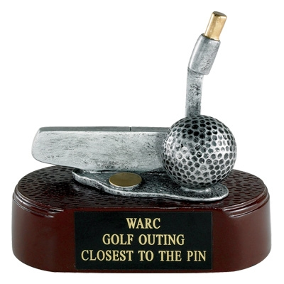 Golf Putter; 4 1/2 Inch Resin Trophy - Tr5860 - Sports Trophies And Cast Stone Sport Figure TR5860