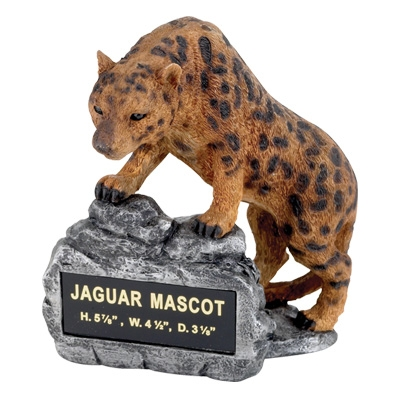 Jaguar Mascot Trophy - Mt2006 - Awards Large Resin Sport Ball Trophies MT2006