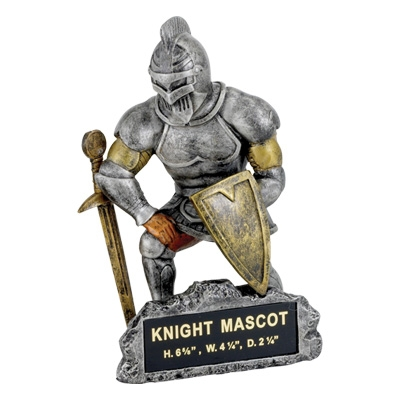 Knight Mascot Trophy - Mt2021 - Awards Large Resin Sport Ball Trophies MT2021