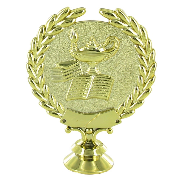 Lamp Of Learning Wreath Trophy Figure - X9563 - Trophies And Awards X9563