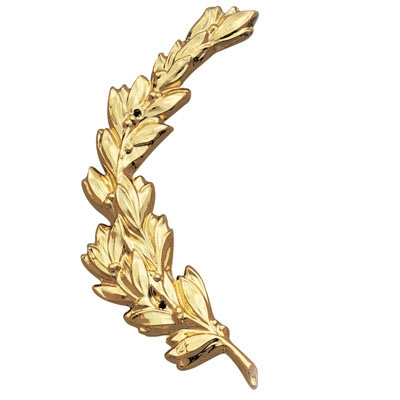 Left Wreath Trim; Gold 6-3/4 - X236g - Trophies And Awards Resin And Metal Cast Plaque Mounts X236G