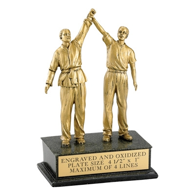 Martial Arts; Male; Referee; 8 1/2 Inch Figure Trophy - Tr5862 - Sports Resin Trophies And Cast Stone Sport TR5862