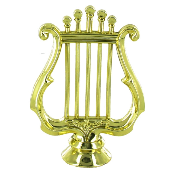 Music Lyre Trophy Figure - F29564g - Tennis Trophies & Awards Trophies F29564G