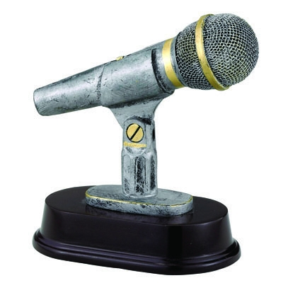 Resin Microphone Trophy - F836 - Awards Component Parts F836