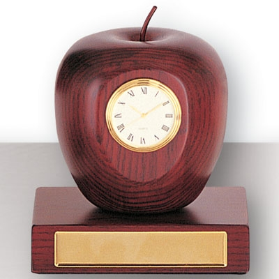 Rosewood Apple Clock On Base - Gf5253 - Awards Trophy Eagles Without Plates GF5253