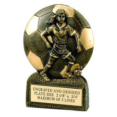 Soccer Female Resin Trophy - F821 - Awards Component Parts F821