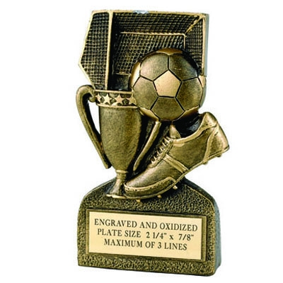 Soccer General Resin Trophy - F824 - Awards Component Parts F824