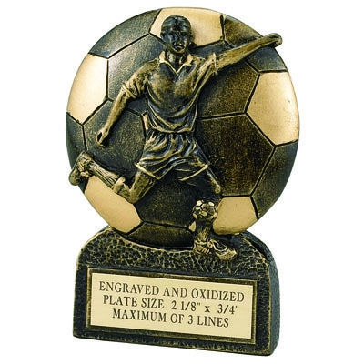 Soccer Male Resin Trophy - F820 - Awards Component Parts F820