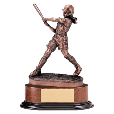 Softball; Female Trophy; 11 Inch; Electroplated - Tr5331 - Awards Cast Stone Star And Special Recognition Trophies TR5331