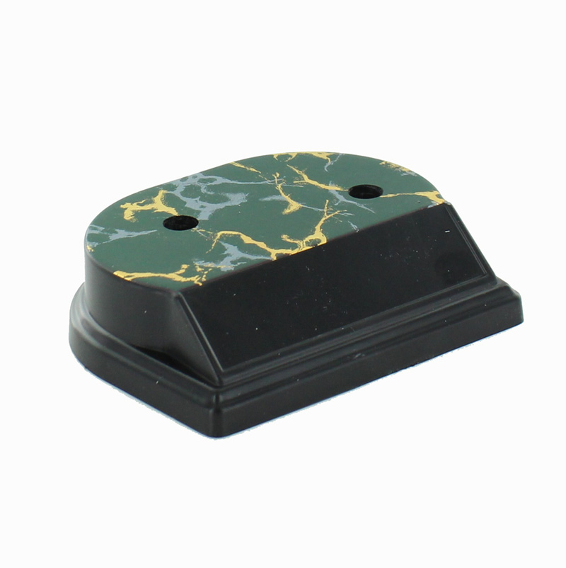 Synthetic Marbleized Black And Gold Trophy Base. 1 Hole Counter Sunk. Size 4 1/2 Inch X 3 5/8 Inch. Holds 7/8 Plate. - Am9673bk - Awards Eagles Without Plates AM9673BK