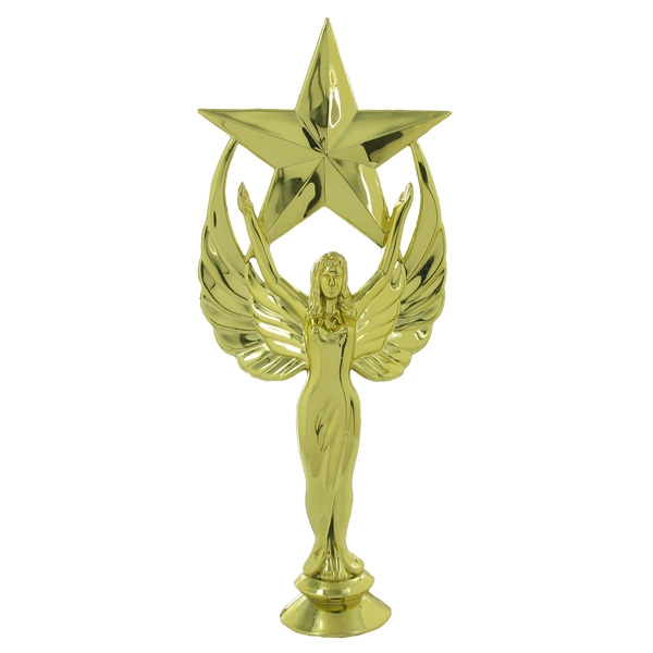 Victory Star Female Trophy Figure; 10-1/2 Inches - F29604g - Trophies And Awards Risers F29604G