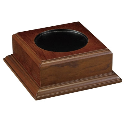 Walnut Finish Base Holds Bowl - Xu3147 - Awards Trophy Eagles Without Plates XU3147