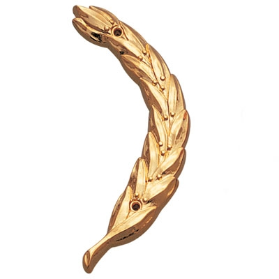 Right Wreath Trim; Gold 4 Inch - X72g - Trophies And Awards Resin And Metal Cast Plaque Mounts X72G