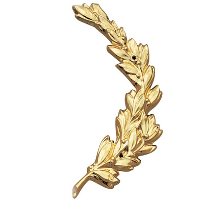 Right Wreath Trim; Gold 6-3/4 - X237g - Trophies And Awards Resin And Metal Cast Plaque Mounts X237G
