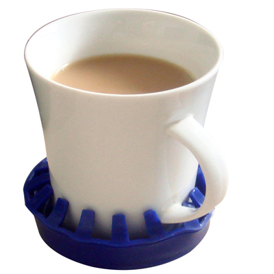 Dycem Non-slip Molded Cup/can/glass Holder ; Blue - 50-1652b - Adl Non-slip 50-1652B
