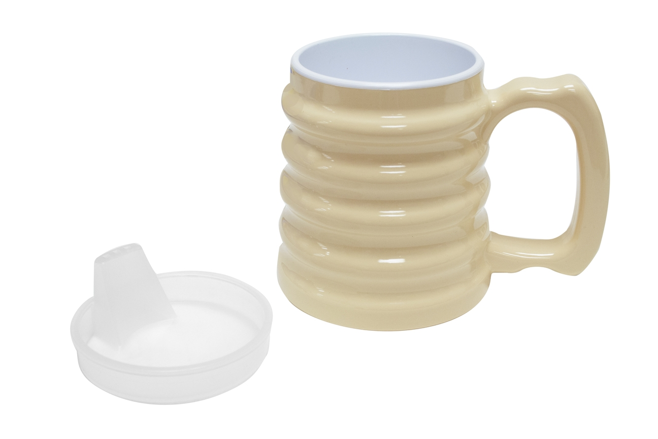 Hand-to-hand Mug; 10 Oz With Spout Lid - 60-1070 - Learning: Play Birthday Party Supplies Candles Hats Tableware 60-1070