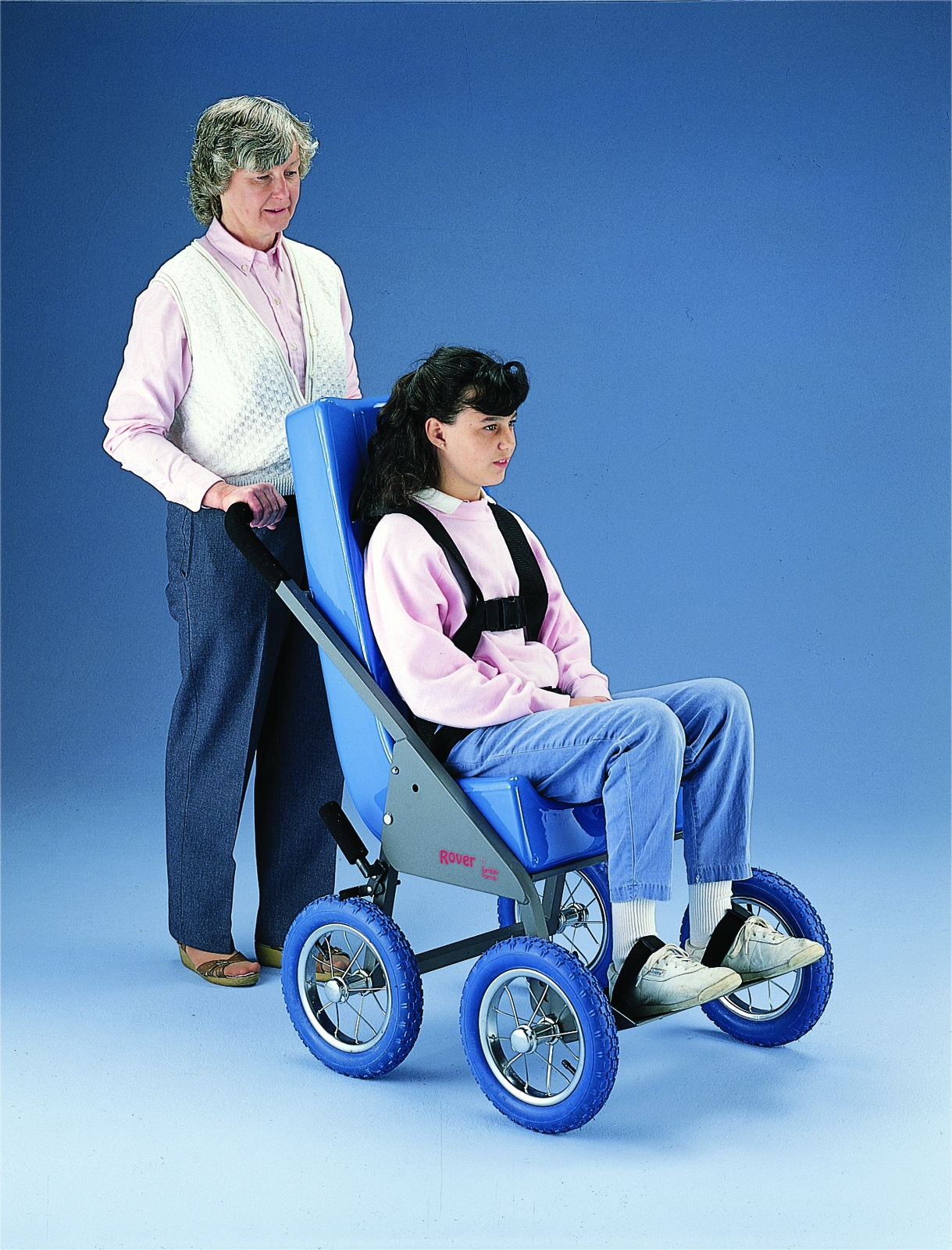 Rover Stroller With Feeder Seat; X-large ; Blue - 30-3523b - Facilities Strollers & Wheelchairs 30-3523B