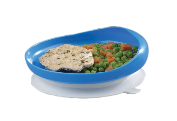 Scoop Plate With Suction Cup Base - 62-0160 - Learning: Supplies Cleaning Food Service Plates & Bowls 62-0160