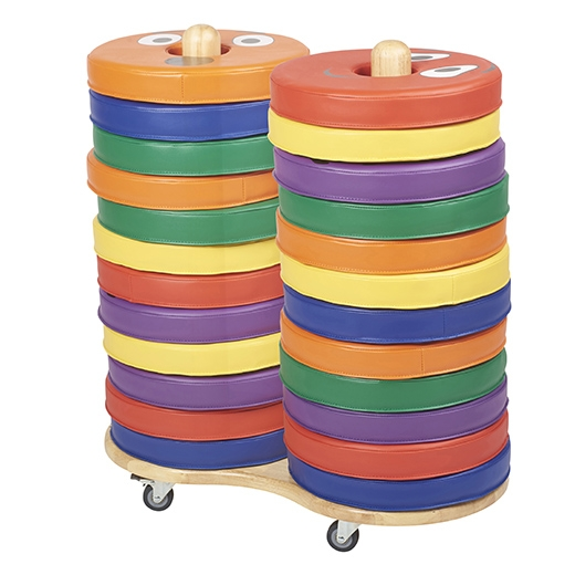 "Donut Cushion Storage Cart with Casters Size: 32"" H x 28"" W x 15"" D ELR-17508"