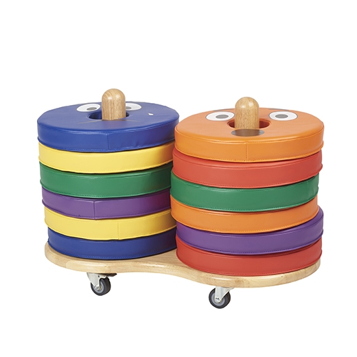 "Donut Cushion Storage Cart with Casters Size: 20"" H x 28"" W x 15"" D ELR-17507"