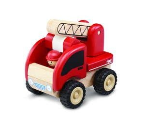 Mini Fire Engine - 18+months -ww-4003 - Baby Toys & Activity Equipment Push Pull 12 24 Months WW-4003