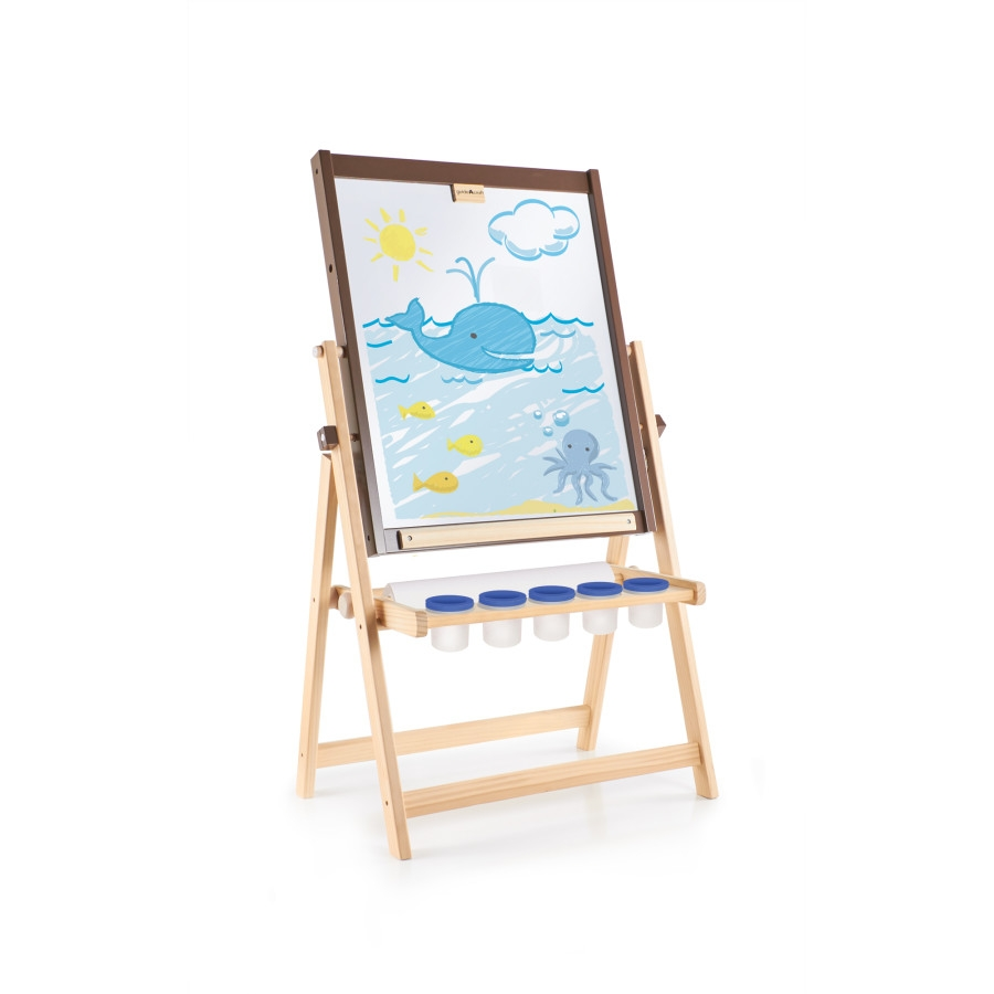 Toy Drawing Tablets Products Art Equipment - G51110 - Guidecraft 4-in-1 Flipping Floor Easel G51110