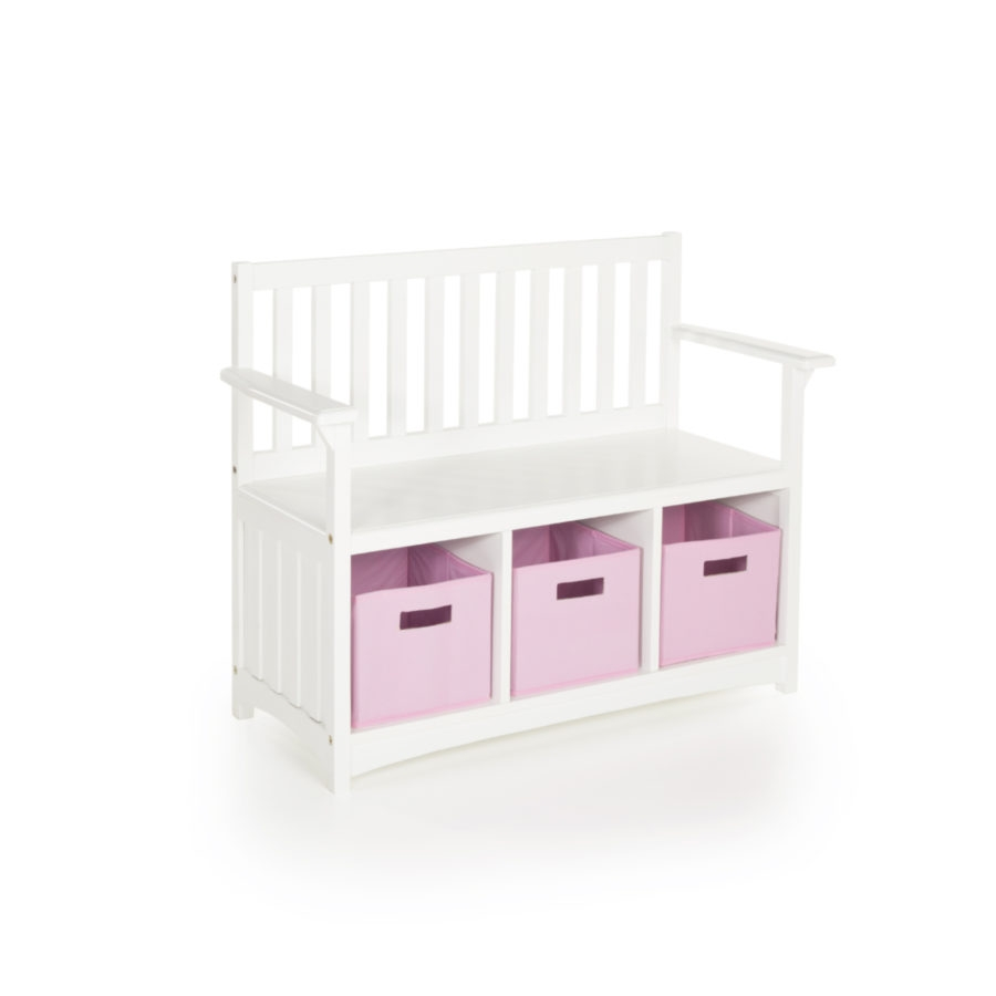 Guidecraft Classic White Storage Bench - G85708 - Facilities Furniture Early Childhood Tables Activity Tables & Activity Table Sets G85708
