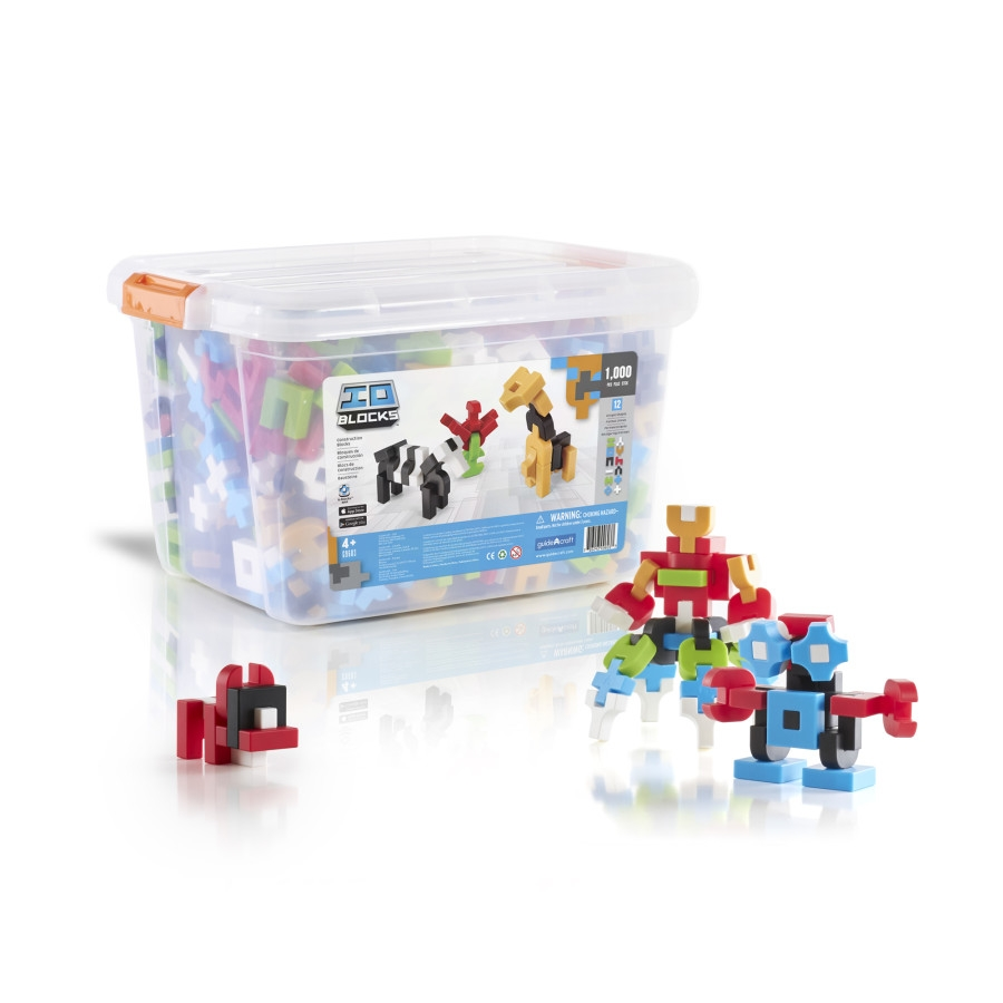 Guidecraft Io Blocks 1000 Piece Education Set - G9603 - Building Toys Construction Products G9603