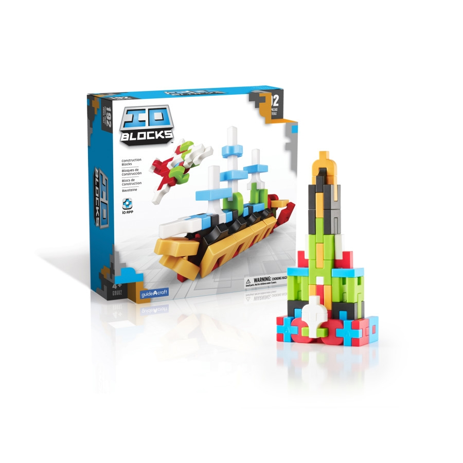 Building Toys Construction Products - G9602 - Guidecraft Io Blocks 192 Piece Set G9602