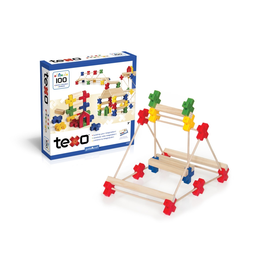 Guidecraft Texo 100 Piece Set - G9501 - Dolls; Playsets & Toy Figures Products G9501