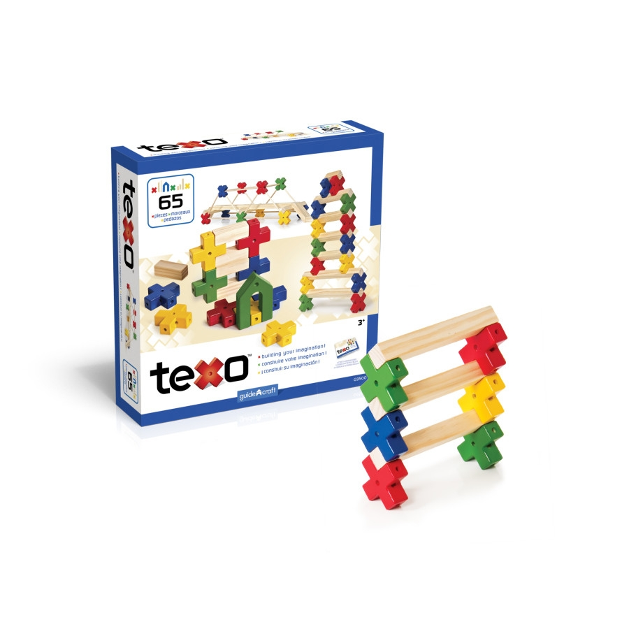 Guidecraft Texo 65 Piece Set - G9500 - Dolls; Playsets & Toy Figures Products G9500