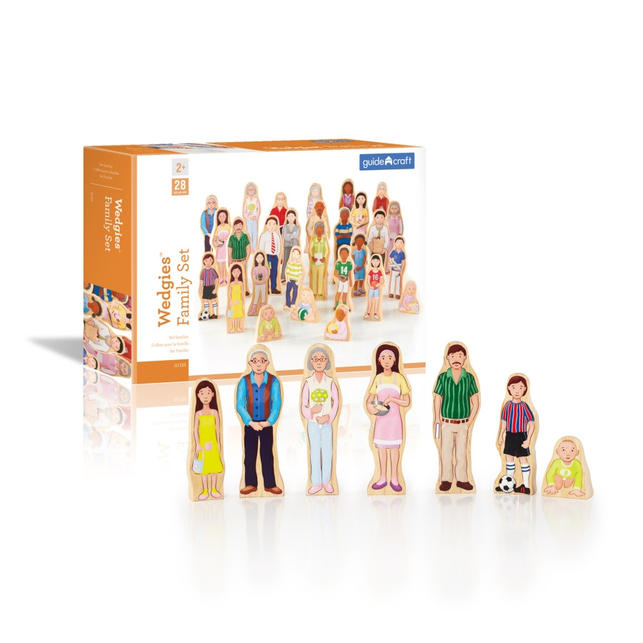 Guidecraft Wedgies Multi-cultural Family Set - G1123 - Building Toys Wooden Blocks Products G1123