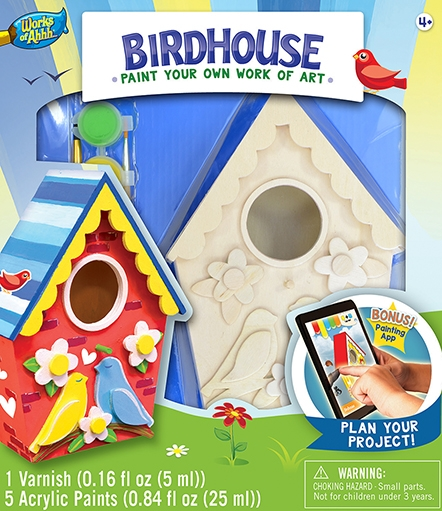 Learning: Classroom Arts & Crafts Crafts Paper Crafts - 21637 - Birdhouse - Lovebirds 21637